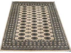 Original Fine Quality Hand Knotted Beige Bokhara 100 Wool Rug 155x260cm 5and039x8and0398