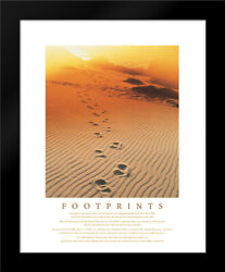 Framed Art - Footprints in the Sand - Frontline - wFrame Size & Styles