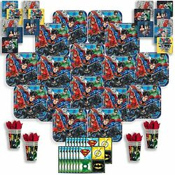 B-there Justice League Party Pack Bundle - Justice League Birthday Set Seats...