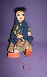 Vintage Mexican Woman Marionette Puppet With Strings