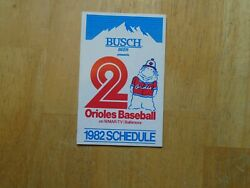 1982 Baltimore Orioles Pocket Schedule Cal's Rookie Year Great Shape
