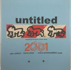 Rare Limited Untitled 2001 Mike Mills Keith Haring Skateboard Deck 7.5