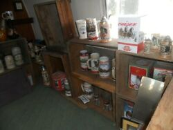 BUDWEISER CHRISTMAS BEER STEIN COLLECTION ALL FROM FIRST YEAR THROUGH 2011!