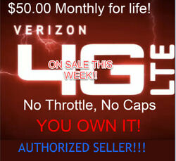 Verizon Unlimited Data Plan - 50 Monthly - No Cap Or Throttle - No Contract