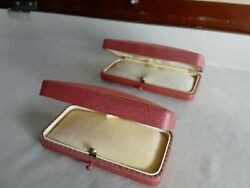 2 Victorian/antique Jewelry Display Presentation Mini Case Made In Germany