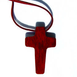 christian wooden wood cross for car $12.00