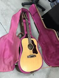 1992 Gibson B45-12 Acoustic + Pickup 12-string Guitar With Dreadnought Case