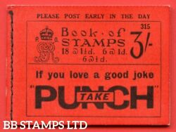 Sg. Bb29. 3/- . Edition Number 315. A Very Fine Example Of This Scarce B48436
