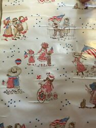 Vintage Decorative Contact Paper Children's Wall Decor Holly Hobbie Flags July 4