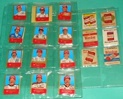 100 Old Winston Cigarettes Matchbooks - 16 Are Winston Cup Auto Race Drivers