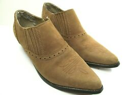 Dan Post Dingo Womens Brown Leather Western Country Booties Size US 8.5 M