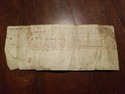 Yr 1400-1500 Ancient Antique Hand Written Document Unknown Maybe Latin Treasure