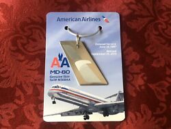 American Airlines Md80 Genuine Skin Tail N568aa 1987-2015 Commemorative Keychain