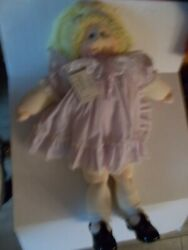 Cabbage Patch Soft Sculpture Doll Standing Edition Girl Blond Hair