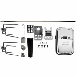 Onegrill 4ps1005 Universal Grill Rotisserie Kit Chrome Cordless Motor -19x5/16