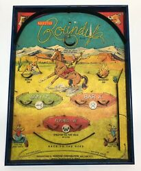 1950's Norstar Roundup G-125 Action Game Western Tabletop Pinball Game