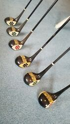 Rare And03930and039s Menand039s And Womenand039s Macgregor Master 30 Fancy Face Wood Sets Vintage Golf