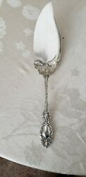 Wallace Sterling Silver Large Solid Fish Serving Knife 11 1/2 Lucerne Pattern