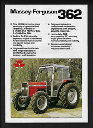 Massey Ferguson Mf 362 2 And 4wd Tractor Specifications Brochure