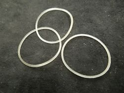 3 Hamilton Military Nos Waterproof Case Back Gaskets 987a - 987s Ordnance 39069