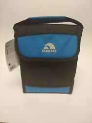 New Igloo Bag It Cooler Bag 5 Can Storage Capacity Black and Blue Free Shipping $14.99
