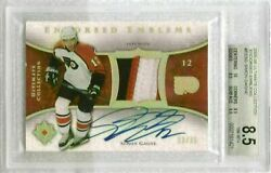 2005-06 Ultimate Collection Simon Gagne Endorsed Emblems Patch/auto /35 Bgs 8.5