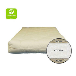 6 Cotton And Wool All Natural Fiber Futon King Size 100 Non-toxic Bed Mattress