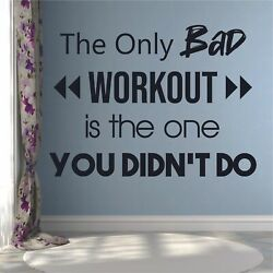 Bad Workout Fitness Motivation Quote Wall Sticker Vinyl Wall Art Decals Home Gym