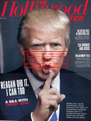 President Trump 2016 On Cover 2015 Issue Of The Hollywood Reporter Set Of 2 Mint