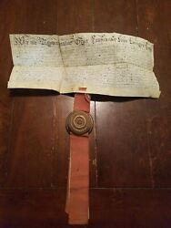 1769 Ancient Antique Unknown Document W/ Cool Disk Maybe Latin Treasure Help