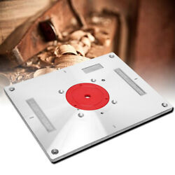 Multifunctional Aluminum Alloy Router Table Insert Plate Trimmer Engraving