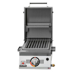 Solaire Allabout Single Burner Infrared Portable Grill With Warming Rack, Propan
