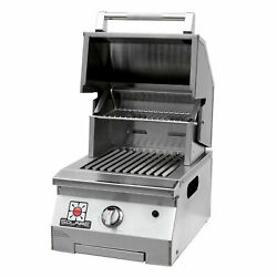Solaire Accent Single Burner Infrared Portable Grill With Warming Rack, Propane