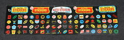 Topps 1970 Non-sports Cards Way Out Wheels Stickers Uncut Evel Knievel 1974 X5 G