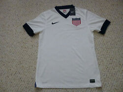 Rare Nwt Nike 2013 Usa Authentic Player Issued Centennial White Home Jersey L