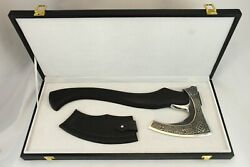 Celtic-style Axe In A Wooden Box. Gift For Men. Survival. Russian Axe.