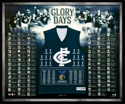 Carlton Blues Hand Signed Framed Limited Edition And039glory Daysand039 Deluxe Guernsey