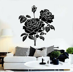 Vinyl Wall Decal Bud Roses Bouquet Flowers Garden Home Interior Stickers G2546