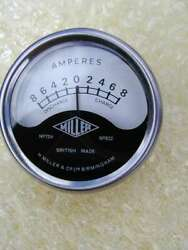 New Genuine English Miller Shallow Fitting Nacelle 12 Volt Ammeter 8-0-8 Dial