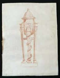 Superb 18th.century French Old Master Neo Classical Urn Snake Drawing 1700s