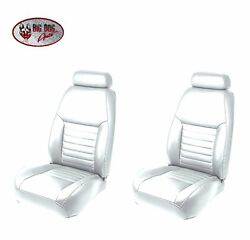 Oxford White Front/rear Bucket Seat Upholstery For 2000 Mustang Gt Coupe