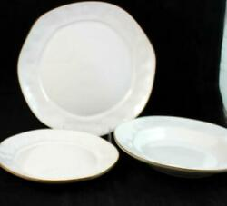 Skyros Cantaria White 3 Piece Assortment Made In Portugal Showroom A+ Condition