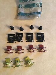 1960's Gm Chevy Trim Moulding Clips Set Of 11 And 4 Speed Nuts Nos Gm No Part