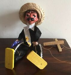 Fantastic Vintage Composition Mexican Puppet