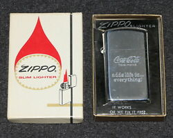 Coca-cola Coke Zippo 1977 Adds Life To Everything Colorless Logo Lighter Mib