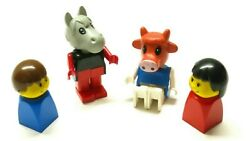 4 Vintage Lego Duplo Minifigures Bulk Lot Animal City Figures Kids Toys Rare