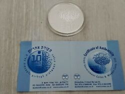 1999 Israel 51st Anniversary Commemorative Silver Proof Coin High Tech 925