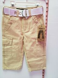 Rocawear Toddlers Boys Pants With Belt Size 12m