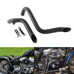 Black 1.75 Pipes Exhaust Fit For Harley Touring Road King Road Glide Drag 84-16