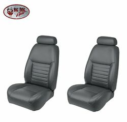 Dark Charcoal Front/rear Bucket Seat Upholstery For 1999 Mustang Gt Coupe